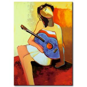 Canvas Print Portraits: Girl with guitar
