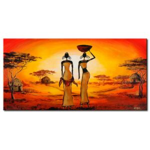 Canvas Print People: In love with sun
