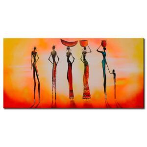 Canvas Print People: Morning in Africa
