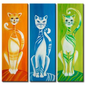 Canvas Print Cats: Colourful kittens