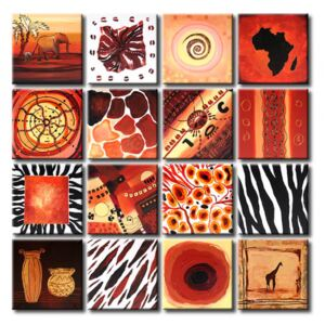 Canvas Print Symbols and Signs: African elements