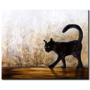 Canvas Print Cats: Green-eyed cat