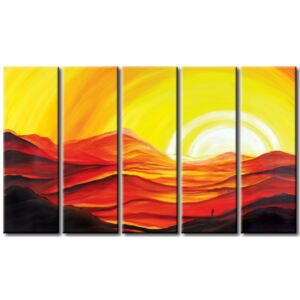Canvas Print Sunrises and Sunsets: Sunset in the mountains