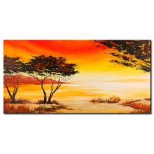 Canvas Print Sunrises and Sunsets: African space