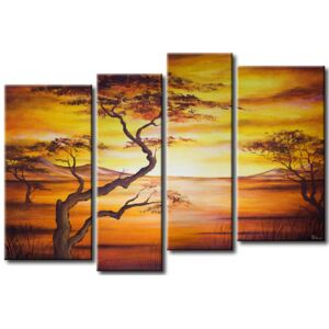 Canvas Print Trees: African landscape