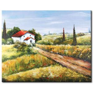 Canvas Print Valleys and Plains: Way home