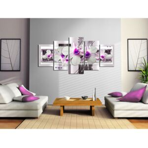 Canvas Print Orchids: With violet accent