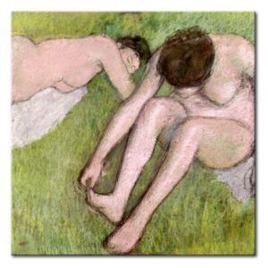 Canvas Print Edgar Degas: Two Bathers on the Grass