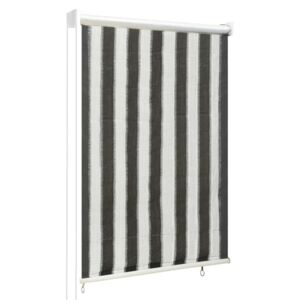 VidaXL Outdoor Roller Blind 60x140 cm Anthracite and White Stripe