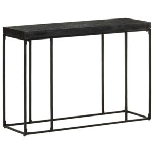 Console Table Black 110x35x76 cm Solid Acacia and Mango Wood