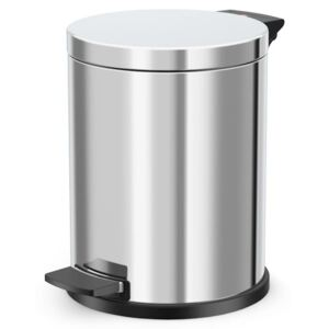 Hailo Pedal Bin Solid M 12L Stainless Steel