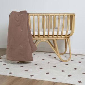 CHILDHOME Quilted Blanket 140x100 cm Rust