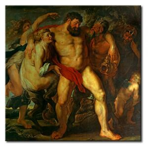 Canvas Print Peter Paul Rubens: The drunken Hercules, led by a Nymph and a Satyr