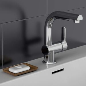 SCHÜTTE Basin Mixer with Pull-Out Spray LONDON Chrome