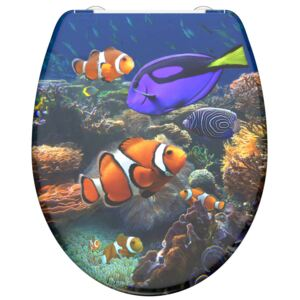 SCHÜTTE Duroplast Toilet Seat with Soft-Close SEA LIFE Printed