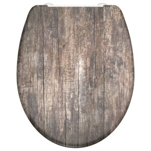 SCHÜTTE Duroplast Toilet Seat with Soft-Close OLD WOOD Printed