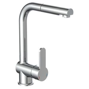 SCHÜTTE Sink Mixer with Pull-out Spray LONDON Low Pressure Chrome