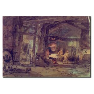 Canvas Print William Turner: An Iron Foundry