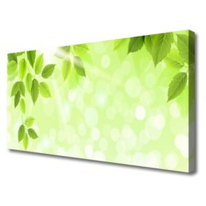 Canvas Wall art Leaves floral green 100x50 cm
