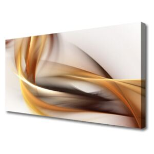 Canvas Wall art Abstract art yellow brown grey white 100x50 cm