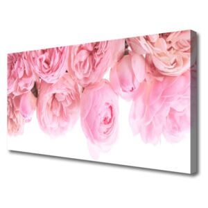 Canvas Wall art Roses floral pink 100x50 cm