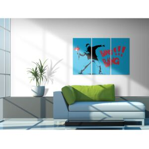 Canvas Print For Teenagers: Bang bang! - triptych