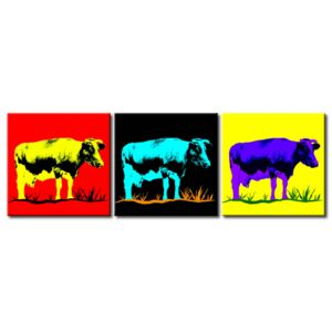 Canvas Print For Teenagers: Colourful cow