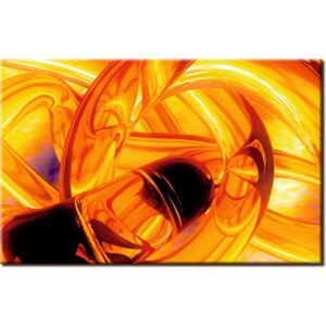 Canvas Print Abstract: Glass Trap - yellow