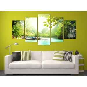 Canvas Print Sea: Under the cover of trees