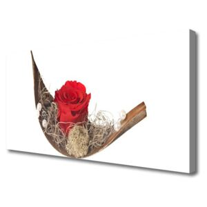 Canvas Wall art Rose floral red 100x50 cm