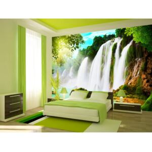 Wall mural River and Waterfall: The beauty of nature: Waterfall