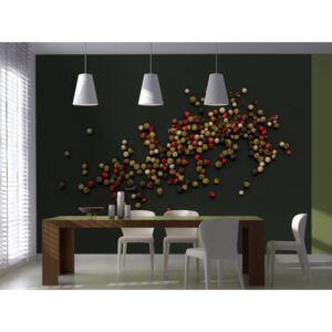 Wall mural Kitchen Themes: Composition of coloured pepper