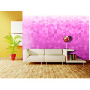 Wall mural Geometric Backgrounds and Patterns: PInk pixel