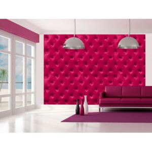 Wall mural Quilted: Fuchsia rhombuses