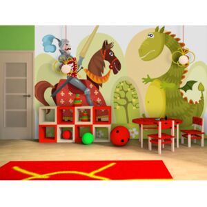 Wall mural For Children: Dragon and knight