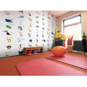 Wall mural For Children: Learning by playing (animals)