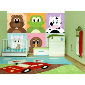 Wall mural For Children: Cheerful animals