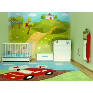 Wall mural For Children: A path to a magical castle
