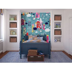 Wall mural For Children: City among the clouds