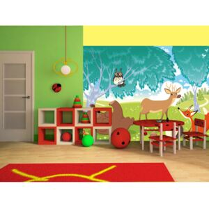 Wall mural For Children: The Animals of Farthing Wood