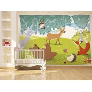 Wall mural For Children: Funny animals