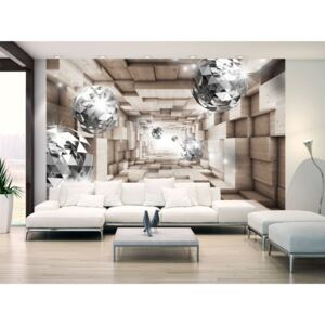 Wall mural Modern: In A Wooden Tunnel