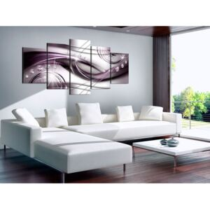 Canvas Print Abstract: Violet Glow