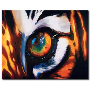 Canvas Print Cats: Eye of the tiger