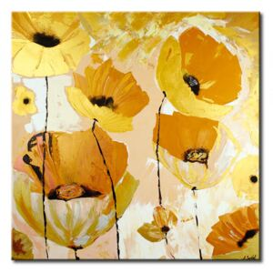 Canvas Print Poppies: The Gold of Poppies