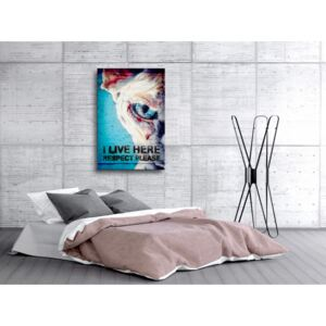 Canvas Print For Teenagers: I Live Here, Respect Please