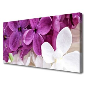 Canvas Wall art Flowers floral pink white 100x50 cm