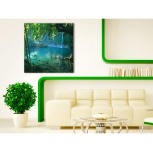 Canvas Print Forest: Waterfall in the paradise