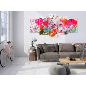 Canvas Print Coloured: Dance of Red