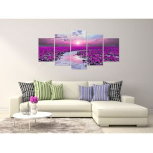 Canvas Print Valleys and Plains: The River of Magic